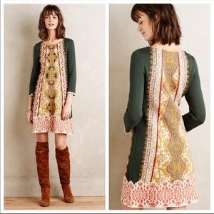 Anthropologie Knitted & Knotted Lanka Wool dress